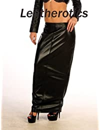 Luxury Real Leather Full Length Sexy Skirt BG15