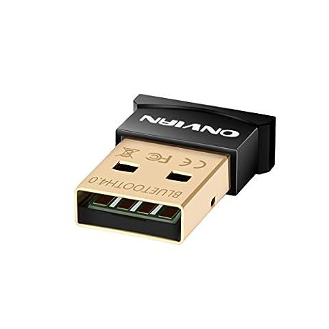 onviantech Bluetooth 4.0CSR USB Dongle Adapter, Bluetooth Sender und Empfänger für Laptop PC Computer–Plug und Play für Win 7und