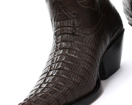 Grinders Carolina Homme Western Cowboy Bottes, Marron Croctail Dark Brown
