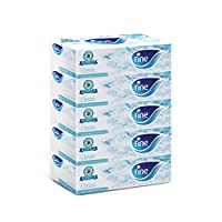 Fine Facial Tissues - Pack of 5 Boxes, 200 Sheets x 2 Ply