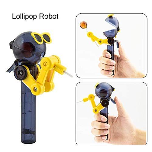 BZLine Kinder Kreative Essen Roboter Lollipops Halter Nette Lutscher Stand Kreatives Lutscher-Artefakt-lustiger Essenlutscher-Roboter Geschenke Baby Spielzeug (Gelb)