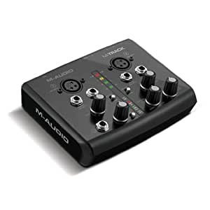 M-Audio M-Track - 2 Channel Portable USB Audio and MIDI Interface with Ignite by AIR and Ableton Live Lite
