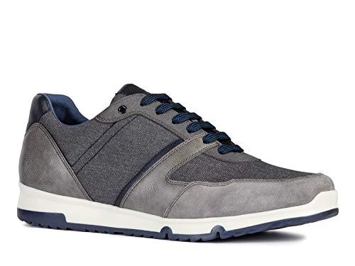 Geox Wilmer U923XA Herren Low-Top Sneaker,Männer Halbschuh,Sportschuh,Schnürschuh,Atmungsaktiv,Grau,42