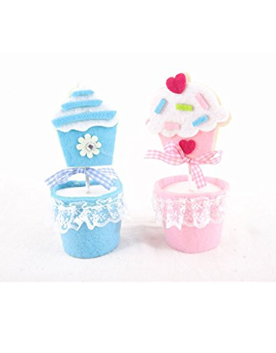 ke Halter für Baby Dusche, oder Geburtstag, Pink & Blau Cupcake Design (Cupcake-halter Für Baby-dusche)