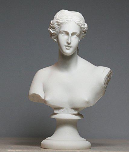 Busto cabeza diosa Afrodita de Milos Venus Estatua Escultura de alabastro 5,9΄ ΄