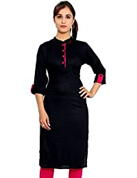 The Style Story Black Designer Rayon Kurti