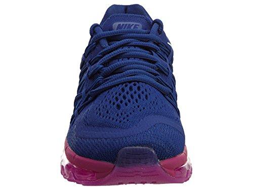 Nike Air Max 2015, Baskets mode femme Königsblau / Weiß / Fuchsia (Deep Royal Blue/White-fuchsia Glow-fuchsia)