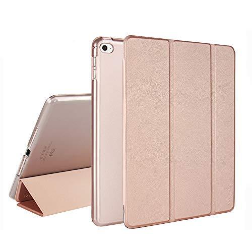 MTRONX pour Apple Coque iPad Air 2, Magnétique Fonction Veille/Allumage  Automatique, Fonction Support à Trois Volets Smart Cover, Transparente  Housse