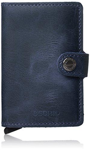 Secrid–porta carte di credito rigido, in pelle e alluminio, Blu
