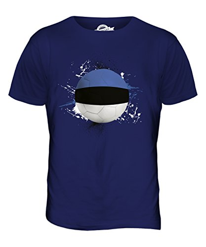 CandyMix Estland Fußball Herren T Shirt Navy Blau