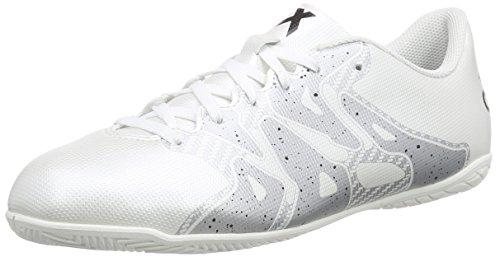 adidas Performance - X15.4 In, Scarpe da calcio Uomo Bianco (Weiß (Ftwr White/Core Black/Silver Met.))