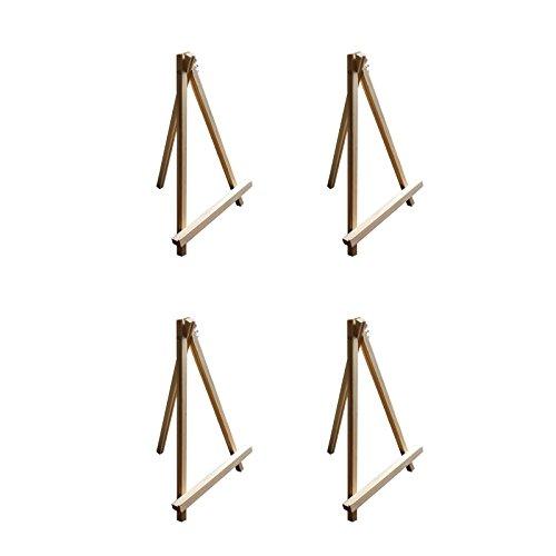 4 teiliges Kunst Staffelei Set aus Holz jeweils 30cm von Belle Vous – Tischoberfläche Stativ...