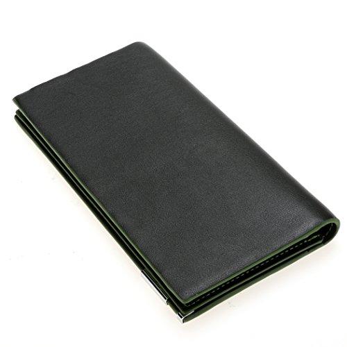 Multifunktional Wallet = All4you Metal colorful Rand Long Wallet Kreditkarten Geld Halter Tasche Geldbörse (Orange) Grün