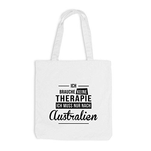 Jutebeutel - Ich Brauche Keine Therapie Australien - Therapy Urlaub Australia Weiß