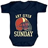 ShirtStreet American Football Gruppen Fan Strampler Bio Baumwoll Baby Body kurzarm Jungen Mädchen Any Given Sunday 2, Größe: 0-3 Monate,Nautical Navy