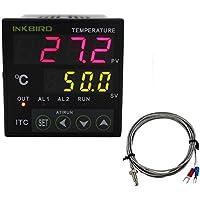 Inkbird Dual Digital Temperaturregler Thermoelement PID Temperature Controller ITC-100RH 220V + K sensor