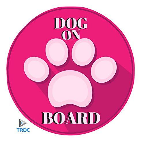 TRDC Adesivo per Auto Dog on Board - Cane a Bordo ...