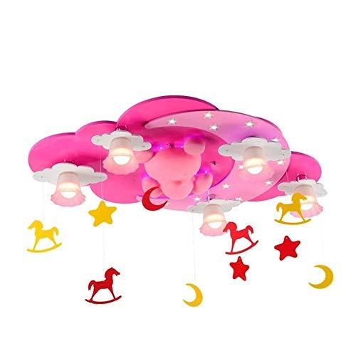ALBN Rosa Farbe kinderzimmer Junge Cartoon warme mädchen Schlafzimmer deckenleuchte LED kreative Kind Cartoon Wohnzimmer Licht kronleuchter 33 * 16.9 * 15.7(in) Albion Form