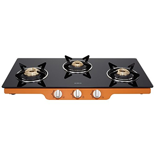Elica Glass 3 Burner Gas Stove (Patio ICT 773 ORG)