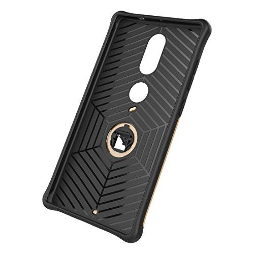 Shock-Resistant 360 Grad Spin Sniper Hybrid Case TPU + PC Kombi-Gehäuse mit Halter für Lenovo Phab2 Plus by diebelleu ( Color : Black ) Gold