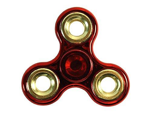 Preisvergleich Produktbild MANAX® Fidget Spinner Spielzeug, Fidget Finger Spinner Portable Metall Tri-Spinner Arbeit Ultra Fast Bearings Finger Spielzeug ideal für Kinder und Spielzeug Geschenke (rot / gold)