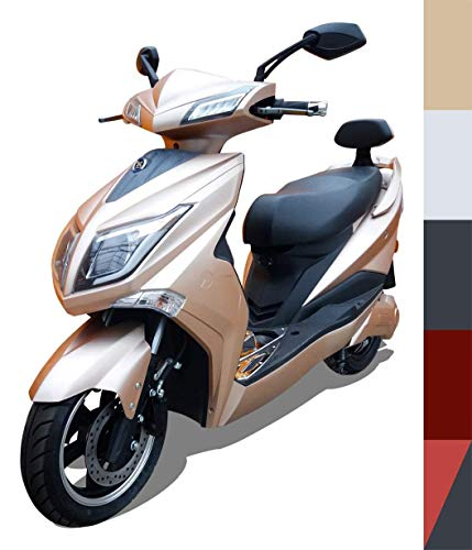 Elektroroller E-Scooter E-Roller Elektro Roller mit Straßenzulassung 45 km/h 60 Kilometer Reichweite, Gold