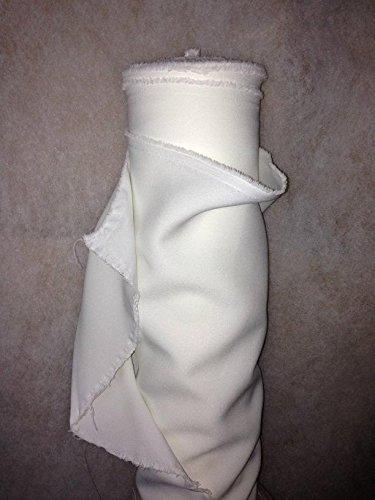 Tissus BURLINGTON infroissable BLANC nappe habillement au 0.50 metre largeur 150 cm