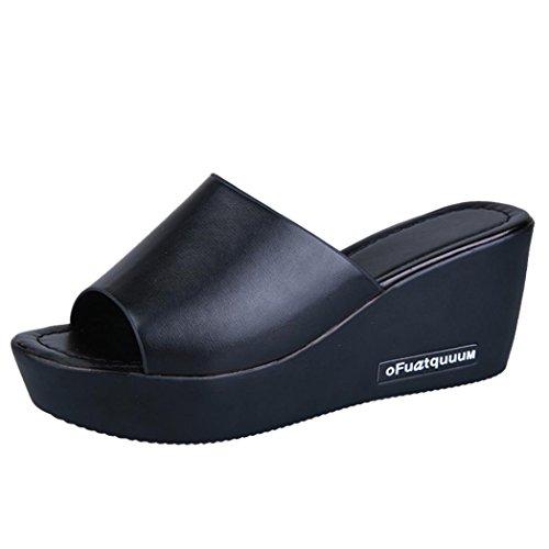Honestyi ciabatte sandali con zeppa a tacco alto da donna casual flip flops donna infradito donna pantofola sandali scarpe da spiaggia pantofole da casa pantofola mare donna