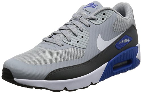 Nike Air Max 90 Ultra 2.0 Essential, Chaussures de Course Homme Gris (Wolf Grey/white/dark Grey/game Royal)