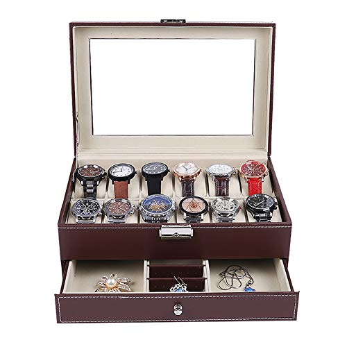 Miaoshoping Schmuckkasten, Kosmetikkoffer mit 2 Ebenen, abschließbarer Schmuck-Organizer, Geschenk für Mädchen und Damen,A3