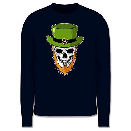 Festival - St. Patricks Day - Totenkopf - Herren Premium Pullover Dunkelblau