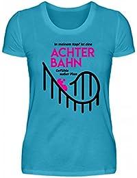 8b787a8d3979 Shirtee Hochwertiges Damen Premiumshirt - Achterbahn - Gefühle Außer Plan -  Helene