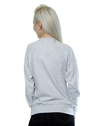 Disney Femme Mickey Mouse Hipster Sweat-Shirt Heather Gris