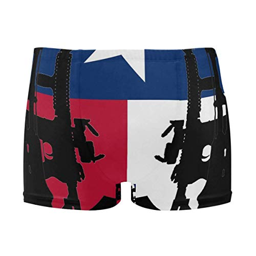 best gift Mens Swim Trunks Texas Flag Gun Pattern Boxer Briefs Board Short Beach Shorts Men Swimming Briefs Swimwear M -