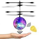JAMSWALL RC Fliegender Ball, RC Infrarot Induktionshubschrauber RC Spielzeug Ball mit LED Leuchtung