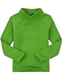 CuteOn Niños para niños | Cuello Alto | De manga larga | algodón | De camisetas, Tops, Tee Shirt- Varios Colores