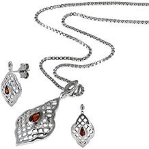 Sterling silver cristalli di shell set orecchini (Sterling Argento Urna)