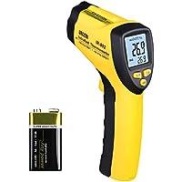 Laser Infrarot Thermometer, URCERI Digital IR-802 IR Pyrometer -50°C bis +580°C Temperaturmessgerät, Berührungsloser Temperaturmesser mit LCD Beleuchtung