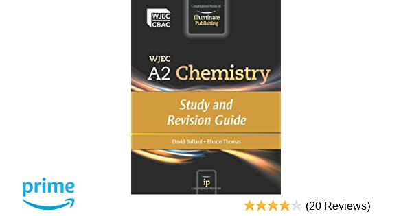 wjec a2 chemistry study and revision guide amazon co uk david rh amazon co uk IGCSE Chemistry Revision Chemistry Revision Flash Cards