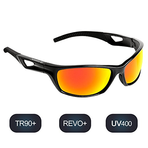 POLARISIEREND rote Sonnenbrille Sportbrille RED EDITION