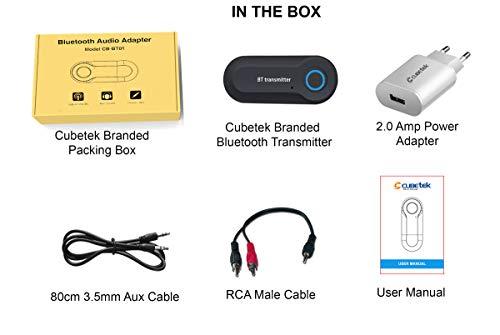 Cubetek-CB-BT01-Economy-Bluetooth-Transmitter-V40-Wireless-35mm-Adapter