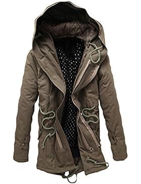 YiJee Hombre Sobredimensionado Invierno de Calido Anorak de Zanja Abrigo Chaqueta con Cremallera