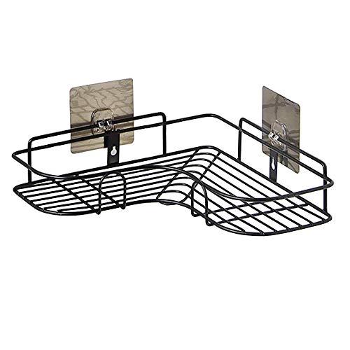 AIYoo Badezimmer Dusche Eckregal Keine Bohren Ecke Duschkorb Wand Duschkabine Duschregal Badezimmer Caddy Dusche Speicherorganisator für Küche Toilette mit 2 Stück selbstklebende Haken