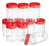 Gros acheteurs VBS 10 Boîtes Plastiques, Couvercle à vis, 200 ML