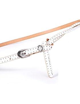 Cinturón Decorativo De Moda/Tejer Fino Cinturón De Joker-blanco 110cm(43inch)