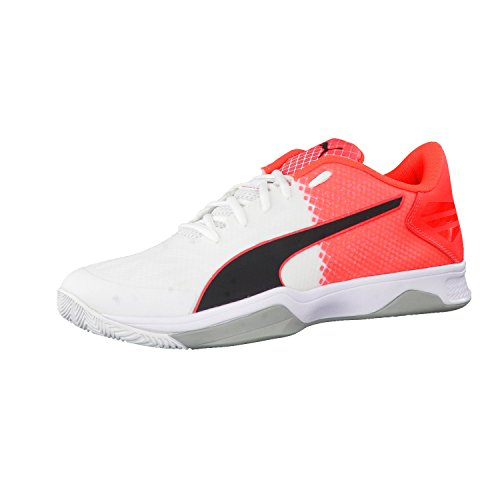 Puma Evospeed Indoor 3.5, Chaussures de Fitness Mixte Adulte white-black-red blast