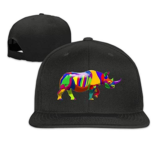Gorras de béisbol clásicas Rinoceronte Lavado Plano Bill Comfort Hip Hop Cap Dad Sombreros