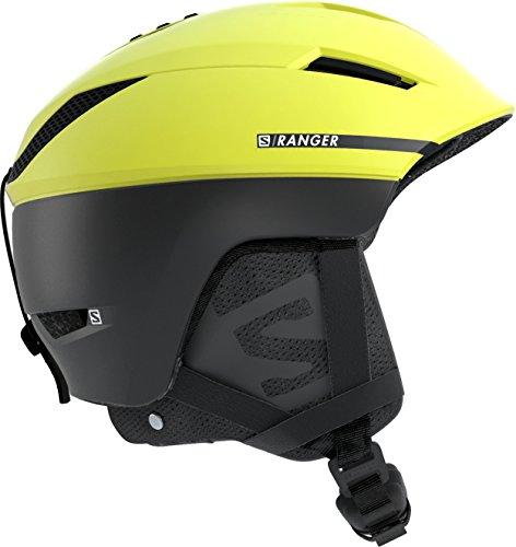 Salomon Ranger² c Casco de esquí y Snowboard para Hombre, Custom Air, Interior de Espuma EPS 4D, Circunferencia: 53-56 cm, Amarillo (Neon Yellow/Negro), Talla S