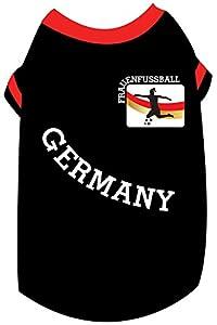 Doggy dolly wm2015b Madame Maillot Coupe du monde de football pour chiens Noir