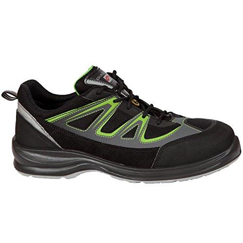 Giasco ur062hv39Biel Scarpe di sicurezza Basso S1P nero/grigio/verde, Multicolore, UR062HV43
